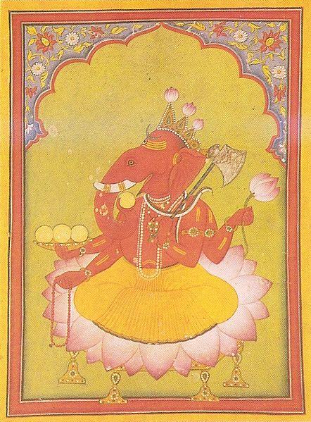 442px-Ganesha_Basohli_miniature_circa_1730_Dubost_p73
